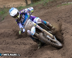 Danny van den Bosse scoort top drie plaats in ONK 125cc in Halle